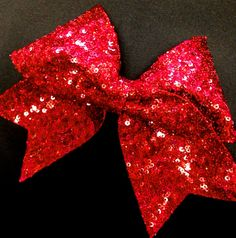 Red Sequin Cheer Bow for Cheerleading on Etsy, $16.99