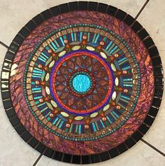 16 suroeste vidrio colgante mosaico terracota por SolSisterDesign