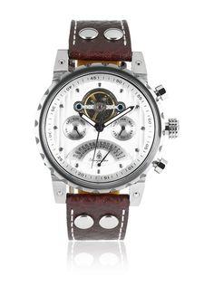 Burgmeister Reloj automático Limoges BM136-984 Marrón 44 mm en Amazon BuyVIP