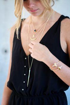black + gold layers | kei jewelry