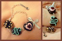 Handmade bracelet, modelling clay
