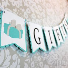 Deluxe Gifts Banner Sign in Light Teal & White - Designer Inspired - Baby Shower, Bridal Shower, Bir Tiffany Theme, Tiffany And Co, Tiffany Blue, Bridal Shower Breakfast At Tiffanys, Tiffany Birthday Party, Bridal Shower Scrapbook, Party Banners, Light Teal, Baby Shower