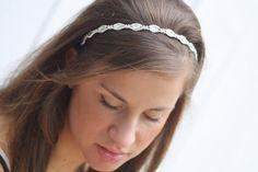 Lidia Simple   Swarovski crystal  bridal  headband by simplychic93