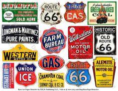Old Rusty Metal Signs Printed Sheet 15 Weathered Tin Signs Tin Signs, Metal Signs, Farm Signs, Wood Signs, Old Paper, Vintage Paper, Advertising Signs, Vintage Advertisements, Rusty Metal