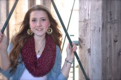 Hand Knit Cowl In Cranberry Soft Chunky Yarn by thebestofthemess, $25.00