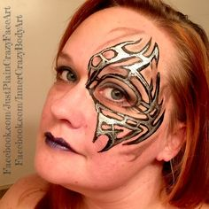 Inspired by Jay Bautista Tribal eye tribal design face painting face paint makeup art  Artist- Marie Sulcoski