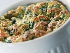 Online Round 2 Recipe - Spinach and Cheese Souffle Recipe : Sandra Lee : Food Network - FoodNetwork.com
