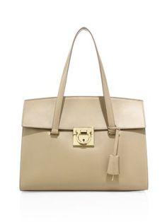 1967bac051e8 SALVATORE FERRAGAMO Mara Medium Leather Satchel.  salvatoreferragamo  bags   leather  hand bags