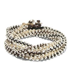 GlobalGoodsPartners.org - one of my dreams, to travel the world, buy from local artisans and empower women! Here's a Silver Beaded Double Wrap Bracelet made by women of Guatemala.