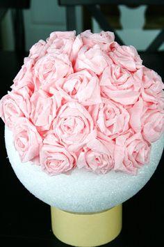 Crepe Paper Rose Pomanders...very cute!