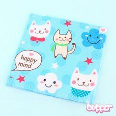 Happy Mini Travel Towel - Neko