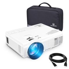 vankyo Leisure 3 (Upgraded Version) 2200 Lux LED Portable Projector with Carrying Bag, Video Projector with and Support,… Best Home Projector, Best Outdoor Projector, Best Portable Projector, Phone Projector, Movie Projector, Projector Screens, Backyard Movie Nights, Outdoor Movie Nights, Usb