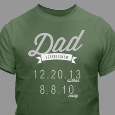 Dad Established T-Shirt 39465X Regalos Creativos e024fc5a4605c