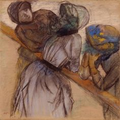 Edgar Degas (French, 1834–1917)  Conversation at the Racetrack, 1882/85  Pastel on tan paper  27 3/8 x 27 9/16 in. (69.53 x 70.01 cm)  Gift of Mr. Harry Lynde Bradley M1957.20   Photo credit Larry Sanders