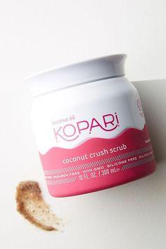 Slide View: Kopari Coconut Crush Scrub from Anthropologie Baking Soda Shampoo, Baking Soda Uses, Cough Remedies, Herbal Remedies, Sleep Remedies, Brown Sugar Scrub, Hair Cleanser, Skin Care Routine For 20s, Skin Routine