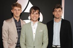 Foster The People on the 2012 Grammy Awards red carpet