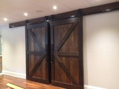 Double Set Of Double Z Braced Barn Doors