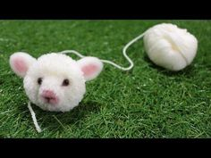 DIY Fluffy sheep mascot 動物ぽんぽん ひつじ - YouTube