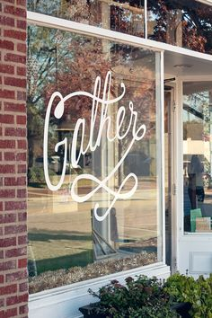 Gather: Coworking/Coffee Shop/Boutique in Cary, NC  Awesome if I could write this on mirror in dining room!