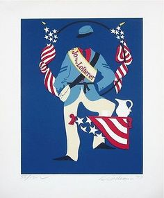 Jo the Loiterer (Mother of Us All), Ltd Ed Lithograph, Robert Indiana