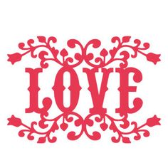 Silhouette Design Store - View Design #147593: floral love title