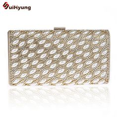 2016 New Women s Hard Case Clutch Fashion Pearl Diamond Stitching Evening  Bag Wedding Party Bridal Handbag 7f655935ce33