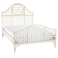 On major sale. LOVE! would be awesome as two twins in guest or girls room! Cassia Rattan Bed | Serena & Lily