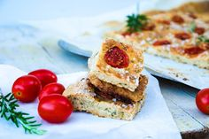 focaccia with rosemary and cherry tomato