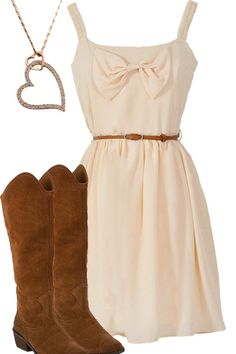 Southern Belle Style - Country Girl Dress & Boots