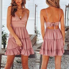 Image could include: one or more people and people standing - Kleider - Summer Dress Outfits Summer Dress Outfits, Casual Dresses, Short Dresses, Pink Summer Dresses, Short Boho Dress, Maxi Dresses, Sweater Dresses, Trendy Outfits, Cool Outfits