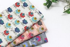 Flower Fabric Flower Pattern 44x35 100% Cotton by KoreaBacol