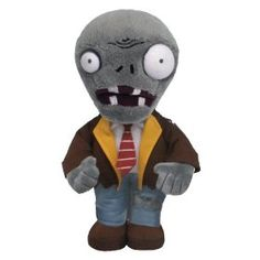 Plants vs Zombies Zombie Plush: Get ready to soil your plants with these detailed plush based on the award winning game Plants vs Zombies. Zombie Birthday, Zombie Party, 8th Birthday, Birthday Ideas, Plants Vs Zombies 7, P Vs Z, Zombie Gifts, Caleb, Plushies