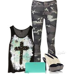 """""""Studded Camo"""" by tltn on Polyvore"""