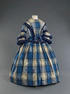 Yea, For Giant Plaids.  Found in the Musee Galiera Day Dress ca.1855