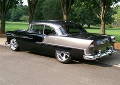 Barrett Jackson ~ Black and Gray 1955 Chevy Sold for 145,000