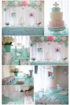 Baptism boy and girl decoration ideas