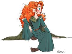 Merida by Steve Thompson Disney Pixar, Deco Disney, Disney Animation, Disney And Dreamworks, Disney Sketches, Disney Drawings, Cartoon Drawings, Disney Kunst, Arte Disney