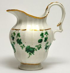 Champion's Bristol jug decorated with green swags, C. 1775