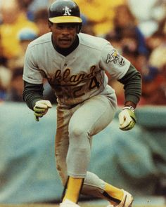 Ricky Henderson - all time steals holder and best lead off hitter the game has ever seen