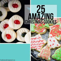 These light and sweet whipped shortbread cookies, with a cherry on top, are so quick and easy to make. Christmas cookie perfection. Plus a quick video!