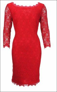 Joseph Ribkoff Red Lace Dress