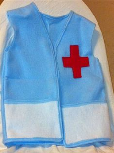 Doctor dress up vest medical role play dramatic size 4-6