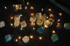 Homemade Paper Lantern Light Strand