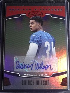 2017 Certified Quincy Wilson Gridiron Signatures Auto Football Card 26/75 #IndianapolisColts