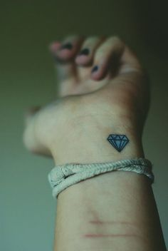 Light up your life ,blue diamond tattoo for fashion girls  #tattoo #wrist  #girls    www.loveitsomuch.com