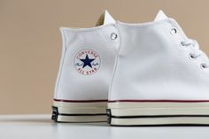 """Converse Chuck Taylor All Star """"Optical White"""" Pack : Converse adds the """"Optical White"""" colorway to its stable of takes on the classic Chuck. Converse Chuck Taylor All Star, Converse All Star, Converse 70s, Sneaker Art, Chuck Taylors, Trainers, High Top Sneakers, Footwear, Google Search"""