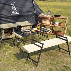Camping Table, Diy Camping, Camping Stove, Camping Gear, Picnic Table, Campsite, Outdoor Camping, Outdoor Chairs, Outdoor Furniture Sets