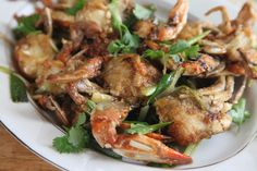Chinese-Style Blue Crabs with Scallion and Ginger Sauce by Goldilocks Finds Manhattan