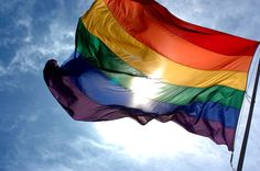 "#equality #LGBTQ ""Gay Pride Flag Waving"""