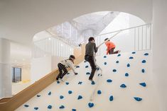 This imaginative kids indoor playground area in Korea was designed by Shin Architects and spreads over 3 levels and 300sqm. Dongcheon Dong j One Playscape by Shin Architects | Yellowtrace